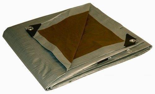 Plandeka gruba 3x5m - 210g/m2  (srebrno-brązowa)