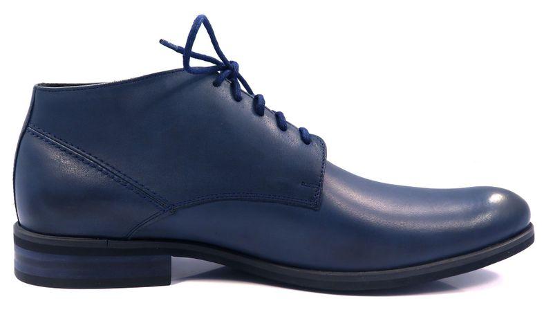 2d3b7d90 Granatowe eleganckie męskie buty zimowe T65 Rozmiar Obuwia - 41 zdjęcie 1