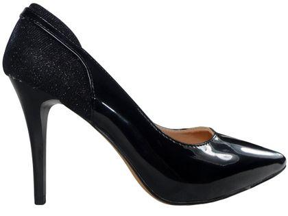 Czarne szpilki czółenka błyszczące piękne buty 36