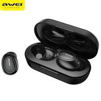 AWEI słuchawki Bluetooth 5.0 T16 TWS + stacja dokująca czarny/black