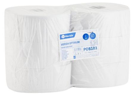 Merida Optimum  - Papier Toaletowy, Biały (2- Warstwowy, 210M, 23Cm) - 6 Sztuk