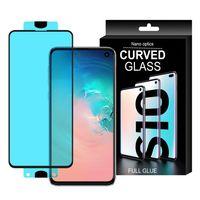 3D Edge Nano Flexi Glass Folia Szklana Szkło Hartowane Na Cały Ekran Z Ramką Samsung Galaxy S10E Przezroczysty