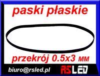 pasek napędowy audio video szerokie 0,5 x 3 mm  duży wybór