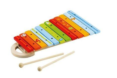 Kolorowy, drewniany ksylofon ze zwierzakami