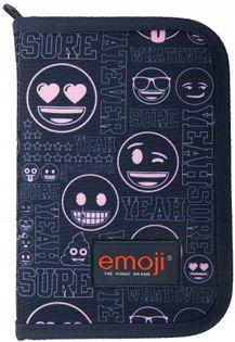 Piórnik Szkolny Dwuklapkowy Emoji Emotki Emoty Min