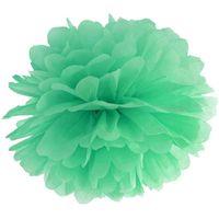 POMPON bibułowy 25 cm MIĘTOWY dekoracja pompony