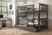 Łóżko łóżka dziecięce Kubuś piętrowe dla dwójki osób 190x80 + SZUFLADA zdjęcie 5