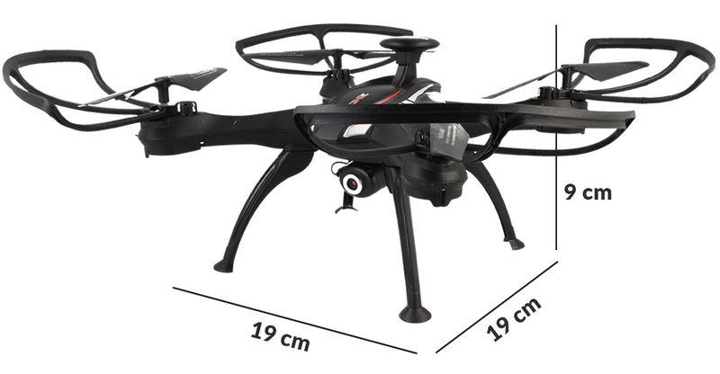 DRON EVOSTAR Explorer RQ77-14W z Kamerą WiFi 6Axis 3Aku Czarny Z25C zdjęcie 6