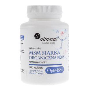 Aliness MSM Siarka Organiczna Plus - 180 tabletek