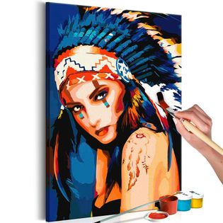 Obraz do samodzielnego malowania - Indianka