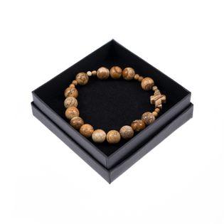 Różaniec-bransoletka Kamień naturalny Japis