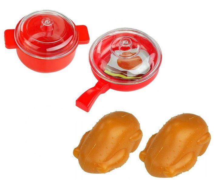 Kuchenka dla dzieci Piekarnik LED Garnki Kurczak Ruszt Kuchnia U29 zdjęcie 6