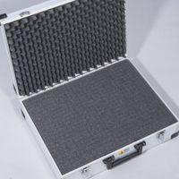 Walizka aluminiowa duża + pianka - 445x355x145 mm