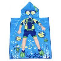 Okrycie Kąpielowe Ręcznik Niebieski Dla Chłopca