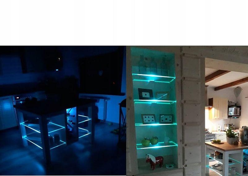 Klips Led Oświetlenie Szklanych Półek Zestaw Zk 4