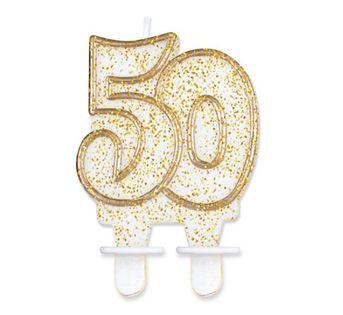 Świeczka Cyferka 50 na pięćdziesiąte Urodziny