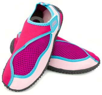 Buty do wody AQUA SHOE MODEL 26 22-34 Rozmiar - Obuwie plażowe - 32, Kolor - Obuwie plażowe - model 26 - C - różowy / jasny róż.  / niebieski