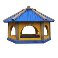 Karmnik dla ptaków Drew-Handel K60N/D 60cm Niebieski karmnik wykonany z drewna iglastego odpornego na warunki atmosferyczne
