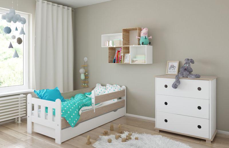 Łóżko STAŚ 140 x 70 z szufladą + barierka ochronna + MATERAC GRATIS zdjęcie 6