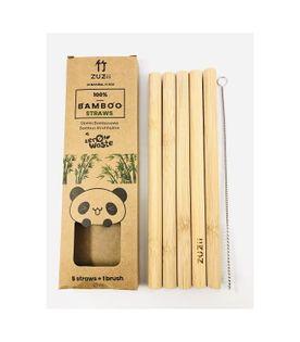 Bambusowe słomki do picia gęstych napojów 5szt. Zuzii