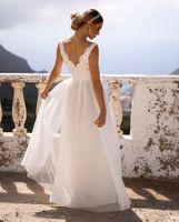 CHIARA - długa suknia wieczorowa- biała L (40)