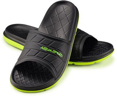 Klapki basenowe ASPEN Rozmiar - Klapki - 36, Kolor - Aspen - 07 - czarny / zielony