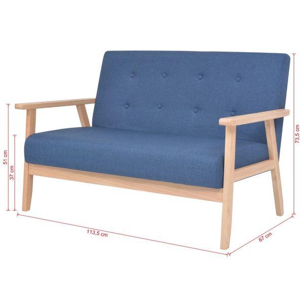 2-osobowa sofa tapicerowana, niebieska zdjęcie 7