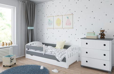 Łóżko CLASSIC 160 x 80 szuflada + barierka ochronna + MATERAC GRATIS