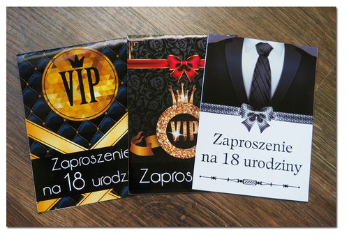 ZAPROSZENIE ZAPROSZENIA NA URODZINY 18 30 40 VIP na Arena.pl