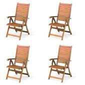 Krzesło ogrodowe składane Carolina ekskluzywne krzesła drewniane 4szt