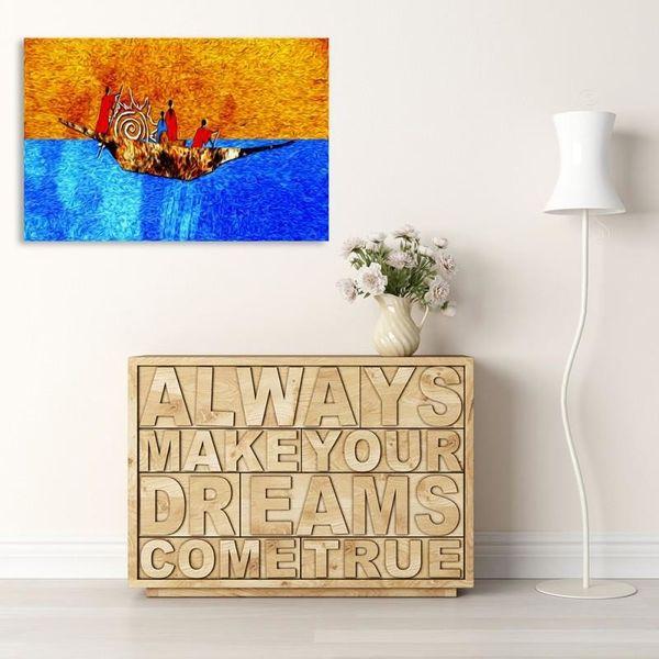 Obraz na płótnie - Canvas, Na łodzi 120x80 zdjęcie 3