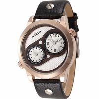 Zegarek męski North 6011, zielony, biały, złoty, czarny, wodoszczelny