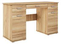 biurko ABS B1 DĄB ZŁOTY duże szkolne młodzieżowe pod laptop producent
