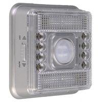 Praktyczna Lampka wewnętrzna 8 LED z Czujnikiem Ruchu i Zmierzchu G196