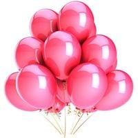 BALONY różowe metaliczne 12szt ślub panieński 24H