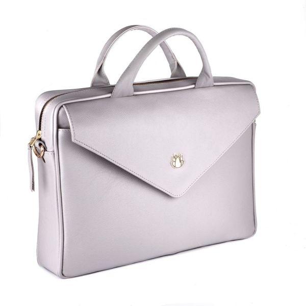 b608df7a11ded Felice damska skórzana torba na laptopa jasnoszara • Arena.pl