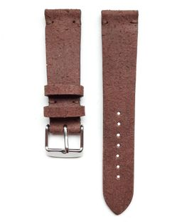 Pasek do zegarka 20mm skóra welur brąz - polskie - Lamato