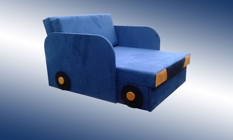 Łóżko, fotel , tapczanik dziecięcy z pojemnikiem na pościel zdjęcie 6