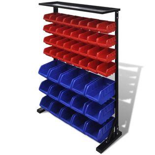 Lumarko Organizer na narzędzia, niebiesko-czerwony