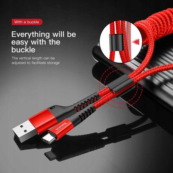 BASEUS Pancerny Kabel Spiralny SPRĘŻYNKA USB-C na Arena.pl