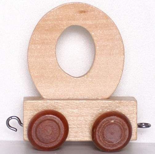 Wagonik z literką O - LITERKA element z układanki ALFABET POCIĄG zdjęcie 1
