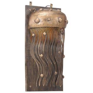 Lumarko Lampa ścienna inspirowana meduzą, żelazo i lite drewno mango!