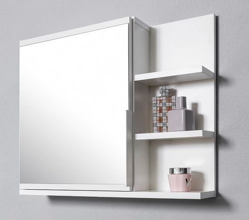 Szafka łazienkowa biała z lustrem i oświetleniem LED, wisząca na Arena.pl