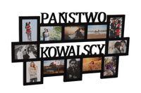 Multirama drewniana ramka na zdjęcia z nazwiskiem