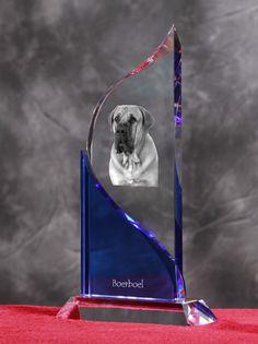Boerboel- Kryształowa statuetka z podobizną psa.