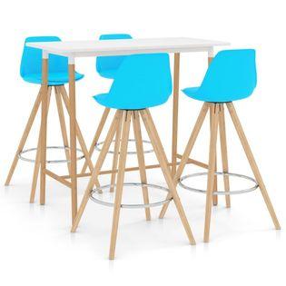 Lumarko 5-częściowy zestaw mebli barowych, niebieski