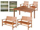 Duży zestaw mebli ogrodowych drewnianych meble drewniane drewno taras