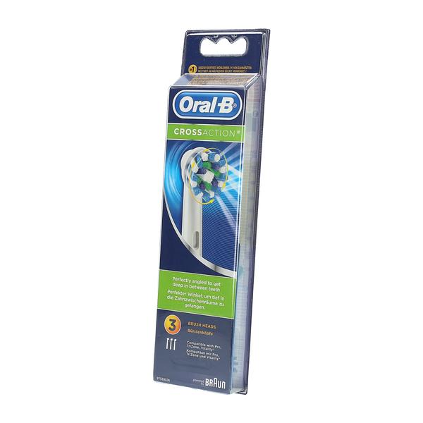 Główki Szczoteczki do Braun ORAL-B Cross Action 3x zdjęcie 8