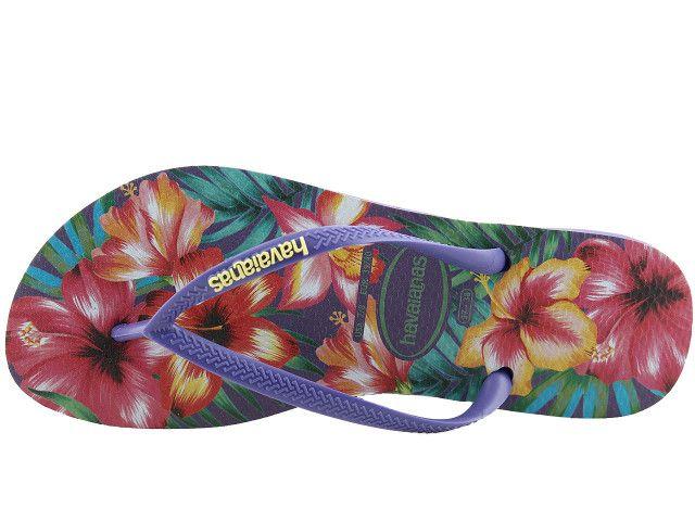 Japonki Havaianas Slim Hibisco Purple 4141590-0719 - 35/36 zdjęcie 3