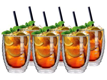 Szklanki Termiczne z Podwójną Ścianką do Napojów Napoi Soków Drinków 6